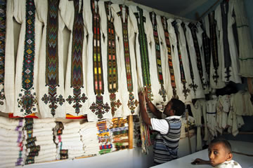 Traditional Clothes Shop in Aksum 2011